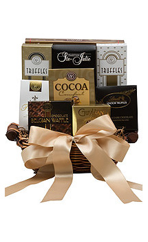 A CHOCOHOLIC'S DELIGHT GIFT BASKET