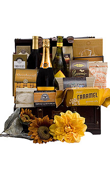 A TRAVELING FEAST WINE GIFT BASKET
