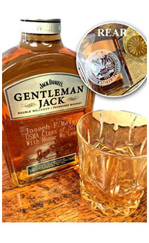 GENTLEMAN JACK RARE TENNESSEE WHISKEY CUSTOM ENGRAVED MARINE CORPS