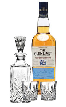 THE GLENLIVET SCOTCH SINGLE MALT FOUNDER'S RESERVE COLLABORATION GIFT SET