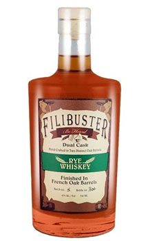 FILIBUSTER RYE WHISKEY DUAL CASK
