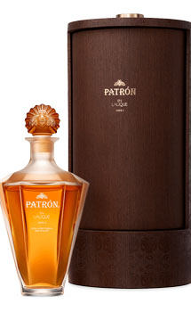 PATRON TEQUILA EXTRA ANJEO EN LALIQUE SERIE Ii - LIMITED EDITION